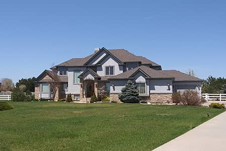 residential home with large front yard